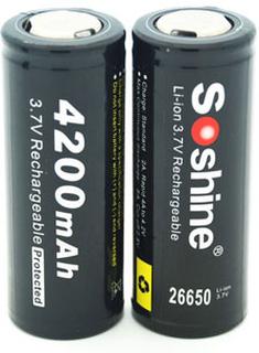 2st Li-Ion 26650 - Soshine