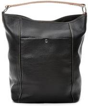 Bucket Bag Black Grained Leather