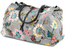Weekend Bag Grey Flower Linen