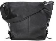 Axelremsväska, Shoulder Bag Black Grained Leather