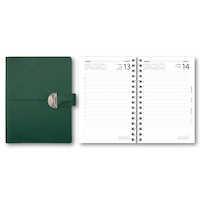 Dagbok konstläder slejf grön
