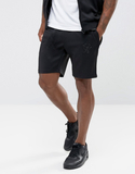Gym King Skinny Track Shorts In Black - Black
