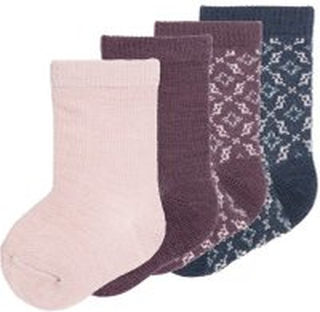 NAME IT 4-pack Med Yllesydda Strumpor Kvinna Rosa