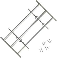 vidaXL Justerbart Fönstergaller för fönster med 3 stänger 500-650 mm