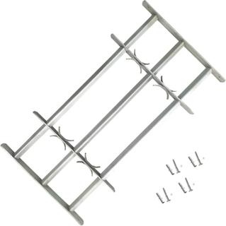 vidaXL Justerbart Sikkerhedsgitter til Vinduer med 3 Tværstænger 700-1050 mm