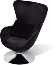 vidaXL lænestol i ægform sort