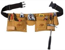 Toolpack läder verktygsbälte med två fickor 366.008