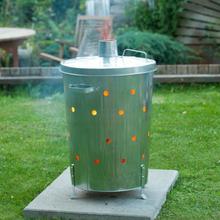 Nature Kompostbrännare galvaniserat stål 46x72 cm rund