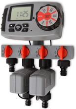 vidaXL 42352 Automatisk bevattningstimer med 4 stationer 3 V