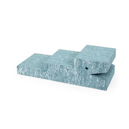 bObles Crocodile - Light blue marble