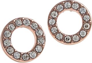 SNÖ of Sweden Spark Örhänge Small Coin Ring Rosé/Clear