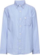 Preppy Skjorte Blå Abercrombie & Fitch