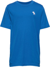 Basic Crew T-shirts Short-sleeved Blå Abercrombie & Fitch