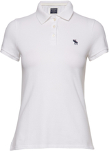 Short Sleeve Polo T-shirts & Tops Polos Hvit Abercrombie & Fitch