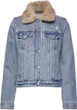 Sherpa Collar Denim Coat Dongerijakke Denimjakke Blå Abercrombie & Fitch