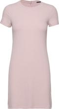 Short Sleeve Rib Knit Dress Kort Kjole Rosa Abercrombie & Fitch