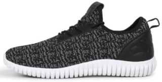 Urban Classics TB1480 Knitted Light Runner Shoe Black/Grey/White