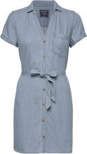 Shirtdress Kort Kjole Blå Abercrombie & Fitch