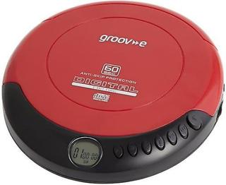 Groov-e Retro serie personliga CD-spelare med hörlurar - röd (GVPS110)