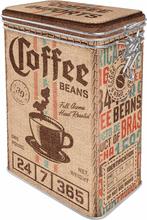Plåtburk Kaffeburk 'Coffee Beans'