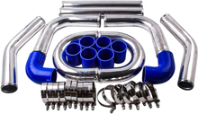 2.5 Inch 64mm Aluminum Turbo Intercooler Piping Kit Universal Pipes Clamp Lmu