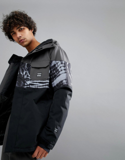 Billabong Tribong Snow Jacket in Tye Die Black - Black