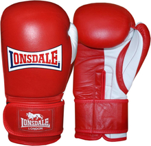 LONSDALE Sparringhandskar Pro Safe röd 18oz