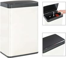 vidaXL Soptunna med automatisk sensor silver/svart rostfritt stål 60 L