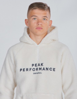 Peak Performance, JR ORI PZH, Hvid, Hættetrøjer till Dreng, 130 cm