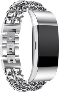 Fitbit Charge 2 stainless steel watch strap- Silver