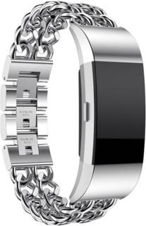 Fitbit Charge 2 rostfritt stål klockarmband - Silver