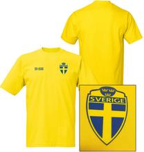 Sverige stil fotbollströja - polyester tröja