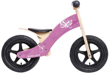 """Rebel Kidz Wood Air Lapset potkupyörä 12"""" Schmetterling , vaaleanpunainen 12"""" 2018 Lasten kulkuneuvot"""