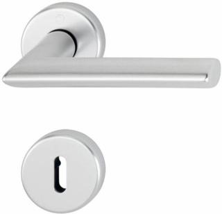 ID Handtag Hoppe Stockholm Aluminium Silver F1 (Handtag med Nyckelskylt)