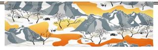 Arvidssons Textil Norrland Orange Slät kappa