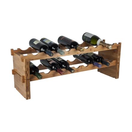 RTA vinställ 18 flaskor bambu påbyggnadsbart