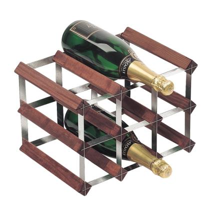 RTA Vinställ 9 flaskor brunbets