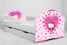 KOBI Barnsäng - Fala Med Madrass Och Skyddskant - Hello Kitty - 160 x 80 Cm