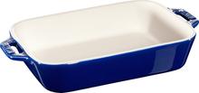 Staub Rektangulær Ildfast Form 20 x 16 cm, Blå