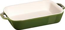 Staub Rektangulær Ildfast Form 20 x 16 cm, Grønn
