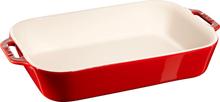 Staub Rektangulær Ovnsform 34 x 24 cm Rød