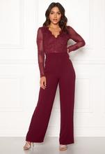 Moments New York Azalea Lace jumpsuit Wine-red 40
