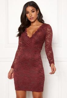 BUBBLEROOM Martha lace dress Wine-red XL