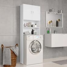vidaXL vaskemaskineskab 64 x 25,5 x 190 cm spånplade hvid
