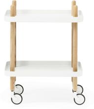 Normann Copenhagen Block Table Rullbord Vit