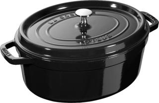 Staub Limited Edition Oval gryte 26 cm 5,4 liter Blank sort