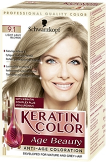 Keratin Color Age Beauty 1 set 9.1 Light Ashy Blonde