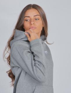 Nike, HOODIE PO CLUB, Grå, Hættetrøjer till Pige, S