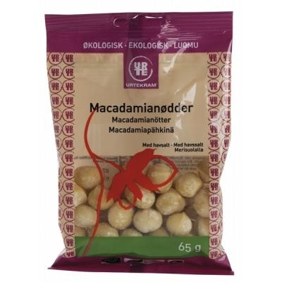 Urtekram Luomu Makadamiapähkinä 65 g