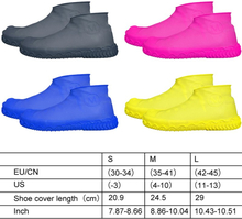 Non-slip Waterproof Shoe Covers Reusable Silicone Overshoes Resistant Rain Boots
